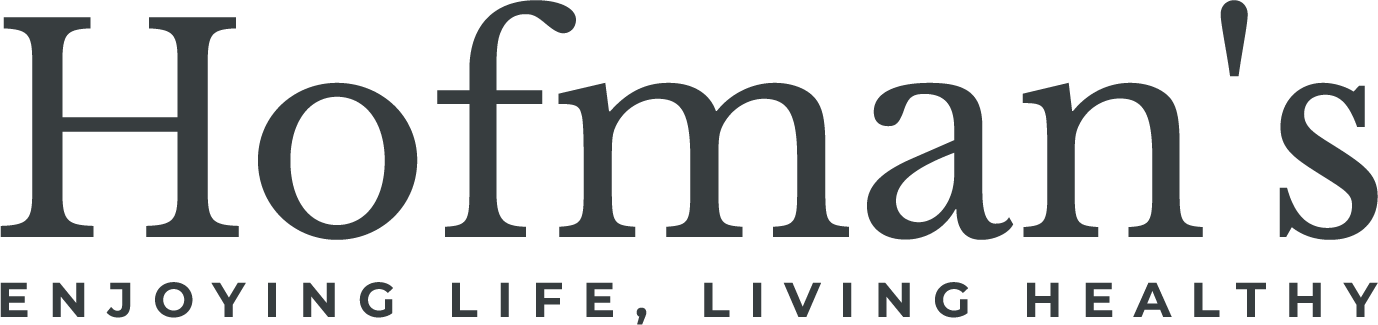 Hofman's - Ejoying Life, Living Healthy Logo outl Grijs